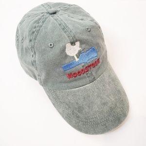 Woodstock Baseball Hat Cap Bird Hippie Green Blue